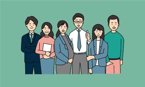 多様なメンバーで構成されたビジネスチーム