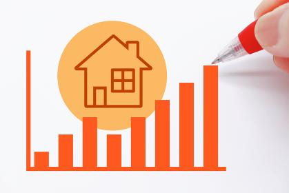 不動産に関する上昇のイメージ