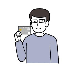 男性のイラスト /クレジットカード
