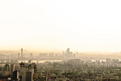 南山から見たソウルの街並み 韓国