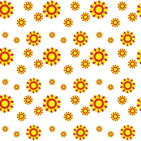 Abstract Colorful Background with Flowers. Seamless Pattern. Vector Illustration. EPS10. Abstract Colorful Background with Flowers. Vector Illustration.