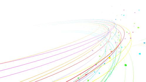 線 ライン カーブ 曲線 波 ウェーブ 弦 カラフル 抽象的 3D イラスト 背景 バック