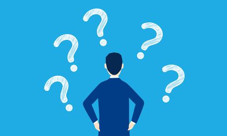 なぜなぜ分析、Five whysのイラストイメージ、ベクターイラストレーション