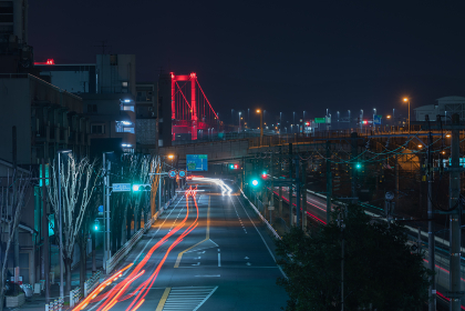 北九州都市高速道路2号線夜景