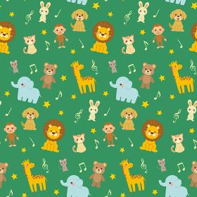 動物と音符のパターン
