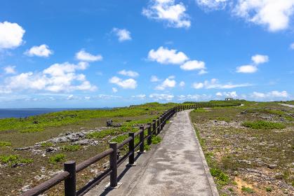 沖縄県宮古島、6月の風景・日本