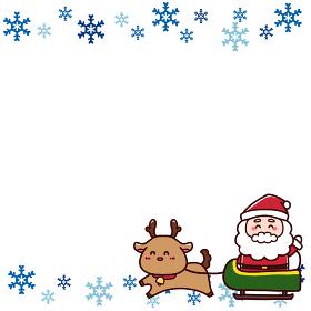 サンタとトナカイのクリスマスフレーム