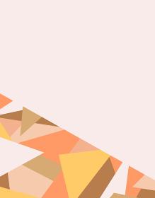 frame of geometric pattern on orange background