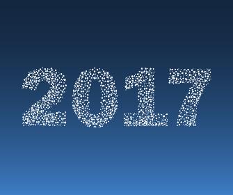 Happy New Year 2017 starburst.