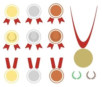 金銀銅の勝利を掴んだメダルの素材