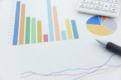 グラフのビジネスイメージ