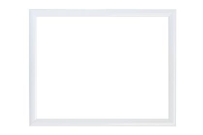 絵画の額(白背景)