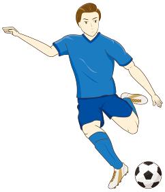 サッカーをする男性01