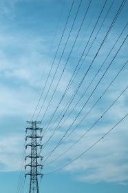 鉄塔と送電線 埼玉県