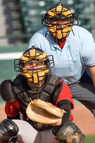 野球のキャッチャー