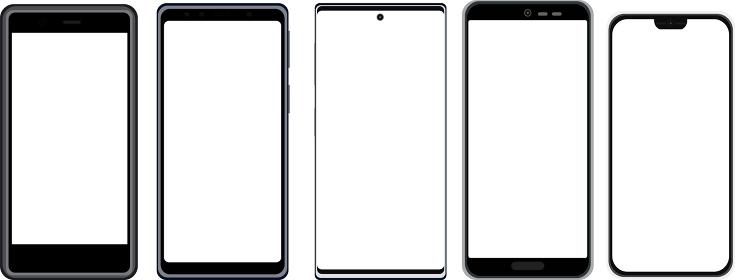 イラスト素材 スマートフォン 携帯電話 携帯 スマホ 電化製品 ベクター