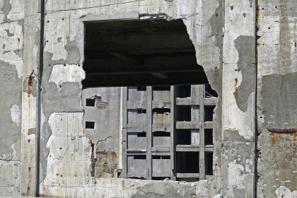 廃墟が残る軍艦島
