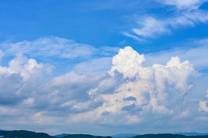 緑と青空と入道雲