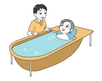 高齢女性の入浴支援 男性介護士