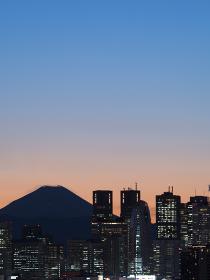 新宿高層ビル群と富士山