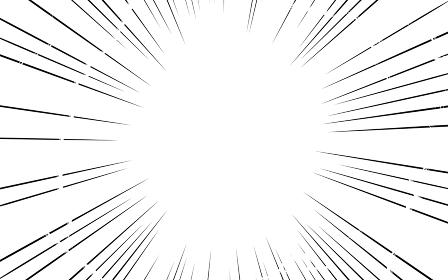 漫画風背景素材 集中線と稲妻の効果