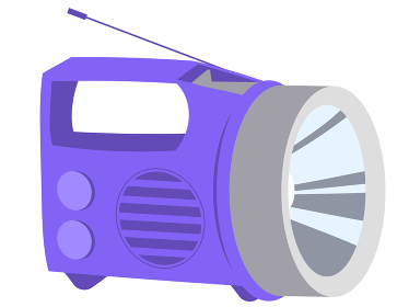 ラジオ付懐中電灯