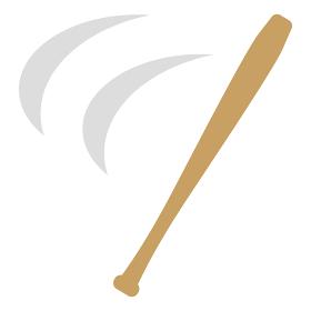 木製バットのスイング