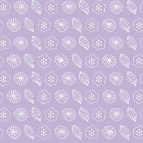 北欧風植物モチーフのシームレスパターン