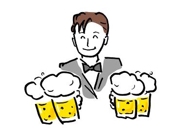 ベクター イラスト 飲み物 ビール ジョッキ 乾杯 生 生ビール 宴会 パーティー 飲み会 忘年会