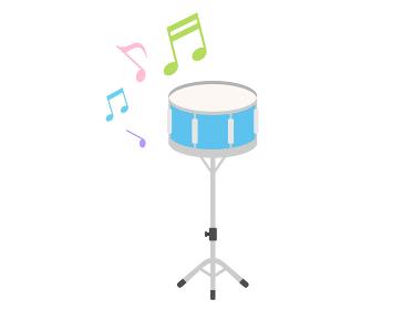楽器のドラムを演奏するイラスト