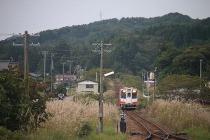 三陸鉄道がある風景