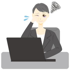 パソコン 女性 会社員 ミドル 疲労 眼精疲労