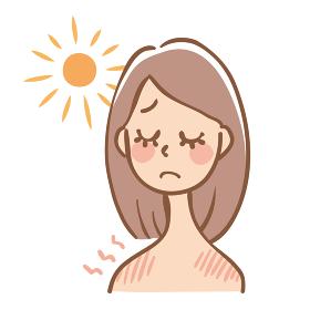 日焼けした女性