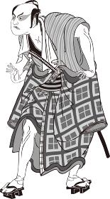 浮世絵 歌舞伎役者 その67 白黒