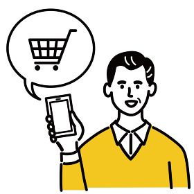 男性 若い ベクター ポップ ネットショッピング