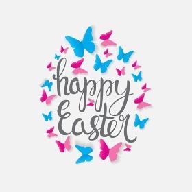 Happy Easter Spring Holiday Background Illustration EPS10. o2017-03-22-17