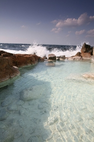 崎の湯温泉露天風呂