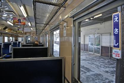 鉄道 JR北海道 江差線・江差駅にて キハ40