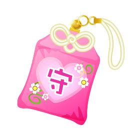 ピンクのお守り(恋守り・恋愛成就)