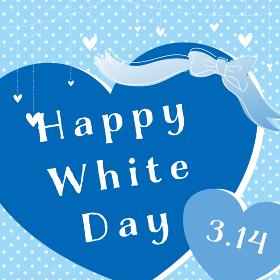 whiteday ホワイトデー ハート バナー POP