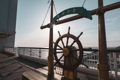 朝のアクアライン 海ほたるPAの光景