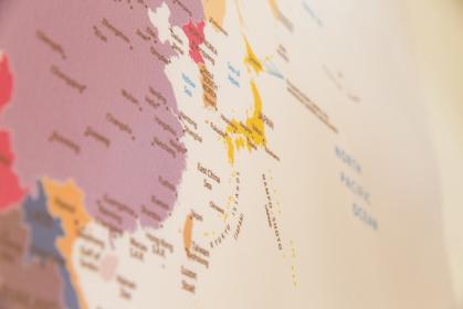 世界地図(日本付近)