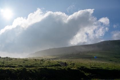 朝霧の車山高原