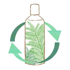サステイナブルビューティー 自然派化粧水ボトル