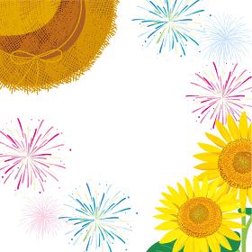 夏祭りイメージ 背景イラスト