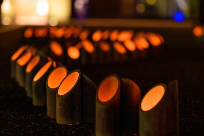 日本の灯籠の美しいお祭り関門海峡キャンドルナイト(門司港レトロ)
