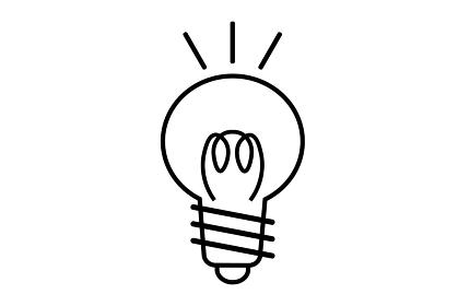 電球マークのイラスト