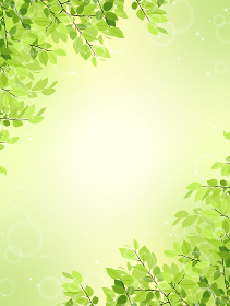 新緑のフレーム・背景素材(縦長)