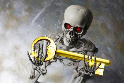 鍵を持つ骸骨