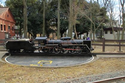 公園の子供用観光ミニSL 観光用ミニ蒸気機関車